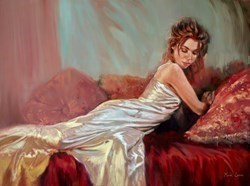 Silver Dress by Mark Spain -  sized 32x24 inches. Available from Whitewall Galleries